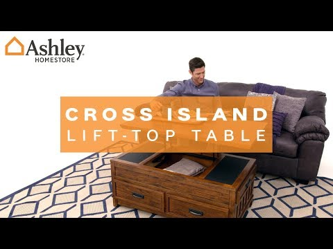 cross island coffee table with lift top | ashley furniture homestore