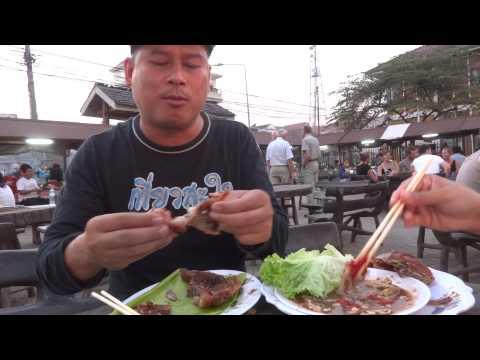 เป็ดย่าง ไก่ย่าง ตำลาวภาค 2 duck grill Luang Namtha