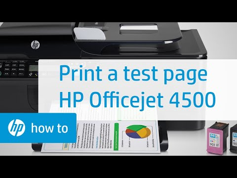 Printing a Test Page | HP Officejet 4500 Wireless All-in-One (G510n) | HP