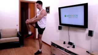 Смотреть онлайн Как накачать мышцы шеи, ног и рук в домашних условиях