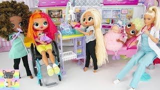 OMG LOL Surprise Neonlicious Lady Diva & Swag With Baby Doll At Royal Bee Barbie Hospital!