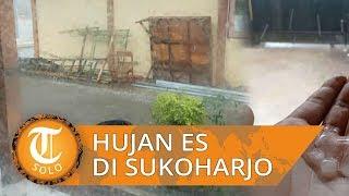 Video Fenomena Hujan Es di Sukoharjo, Pohon Tumbang, Tiang Listrik Ambruk