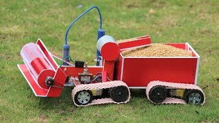 How to make a Harvester - powerful Hydraulic Harvester