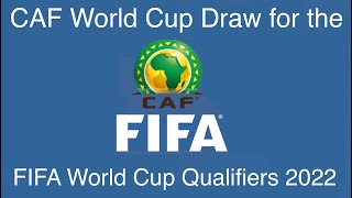 CAF Draw for the FIFA World Cup Qatar 2022 Qualifiers Round 1 Coming Soon!
