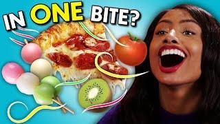 In One Bite Challenge - Emoji Foods! | People Vs. Food