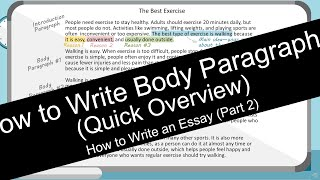 How to Write an Essay: Body Paragraphs (with Worksheet)