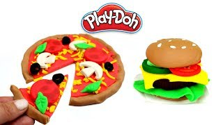 Pizza VS Burger How to Make Play Doh Pizza and Hamburger Creative Fun DIY Play Doh Food for Kids