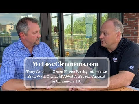 , title : 'We Love Lewisville-Clemmons Interview with Brad Wall, Owner of Abbott's Frozen Custard Clemmons NC