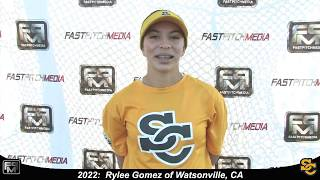 2022 Rylee Gomez Athletic Shortstop Softball Skills Video - Ca Suncats
