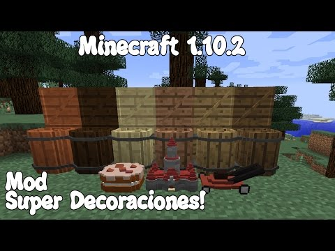 Minecraft 1.10.2 MOD SUPER DECORACIONES! Random Decorative Things Mod Español!