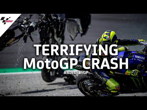Terrifying MotoGP™ crash from every angle   #AustrianGP 2020