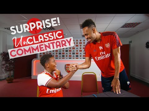 Aubameyang surprises a Junior Gunner!   UnClassic Commentary   Arsenal 3-1 Leicester City