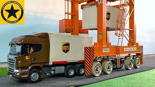 BRUDER Container Trucks UPS rc Umbau ♦ TEREX CONTAINER Carrier ♦ TOYS for CHILDREN