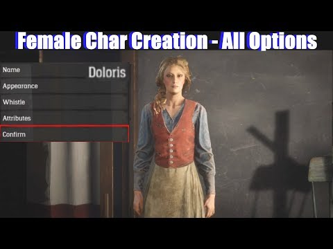 RDR2 Female Character Creation All Options Detailed - Red