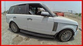 Abandoned Range Rover. Abandoned luxury cars in Dubai
