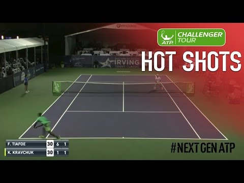 Tiafoe Lunges For Irving Challenger Hot Shot 2017