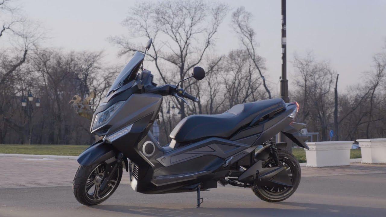 Электроскутер Like.Bike Maxi (White) video preview