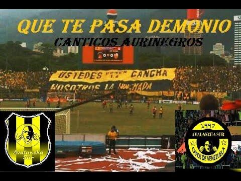 """QUE TE PASA DEMONIO // CÁNTICOS AURINEGROS // AVALANCHA SUR 1997"" Barra: Avalancha Sur • Club: Deportivo Táchira"