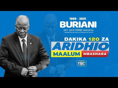#TBCLIVE :  ARIDHIO MAALUM MACHI 26, 2021 (SAA 1:00 - 3: 00 USIKU)
