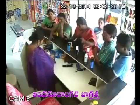 Shocking Theft by WOMEN in Garments Shop in INDIA