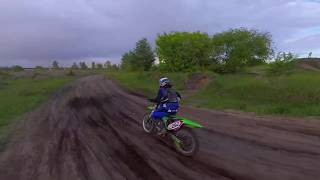 Motocross from FPV drone. As close as possible!