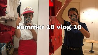 day in my life: working two jobs!   summer 18 vlog 10   8/31