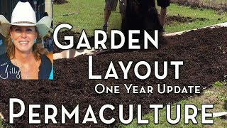 Permaculture Garden Layout - One Year Update