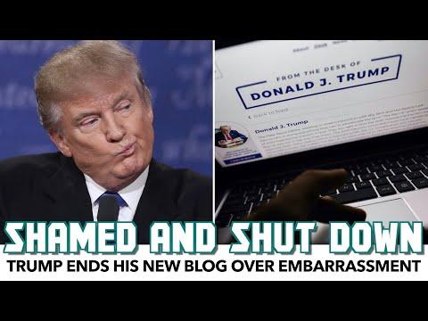 Trump Ends His New Blog Over Embarrassment