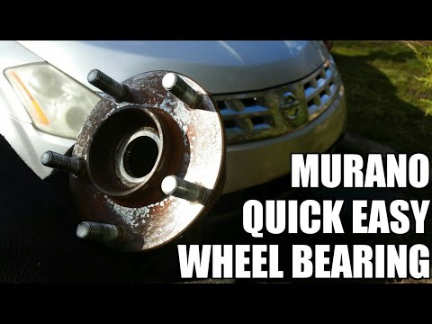 Nissan Murano wheel bearing & hub assembly replacement 2003-2007