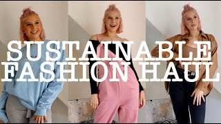 SUSTAINABLE FASHION TRY-ON HAUL // SASSY SPUD, LUCY & YAK, MONKI // ECO-FRIENDLY CLOTHING