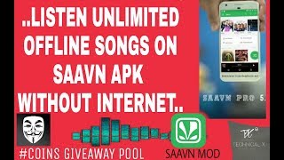 Get Saavn pro free + Offline mode- (Android, iPhone) without root.. || Technical X ||