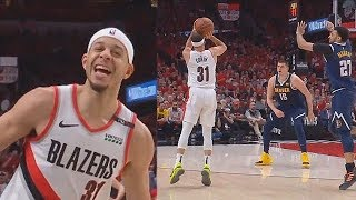 Seth Curry Shocks Crowd With Crazy 3 Point Shots In Game 4! Nuggets vs Blazers Game 4