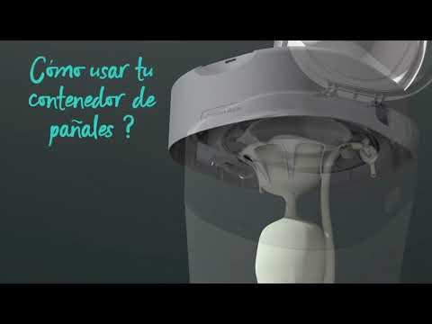 Contenedor para pañales blanco Twist&Click + 6 recambios