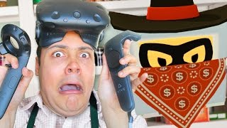 I GET ROBBED WHILE WORKING AT THE STORE !!! 🔫 - Store Clerk (Job Simulator Virtual Reality)
