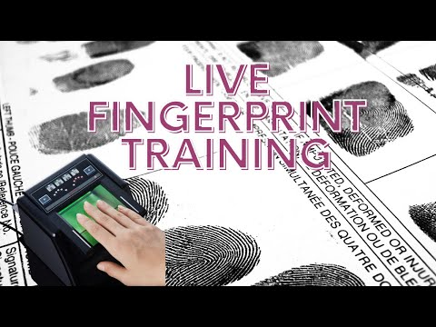 LIVE Fingerprint Training for Notaries - YouTube