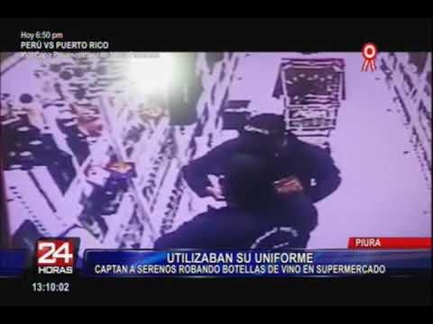 Piura: cámaras de seguridad graban a serenos robando