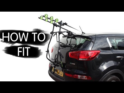 HOW TO FIT GREEN VALLEY BIKE CYCLE CARRIER RACK * KIA SPORTAGE *