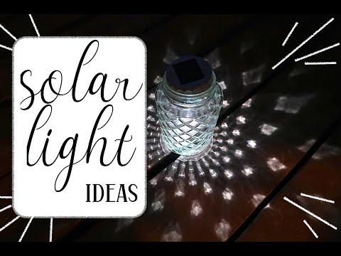 Solar Light Hacks Ideas | Lantern - Tabletop - Layered - Tall | Dollar Tree // Cluttered CorkBoard