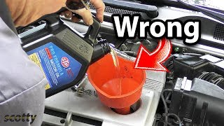 Changing Your Engine Oil? You're Doing It Wrong