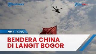 Viral Video Helikopter Kibarkan Diduga Bendera China di Langit Bogor, TNI AU Beri Penjelasan