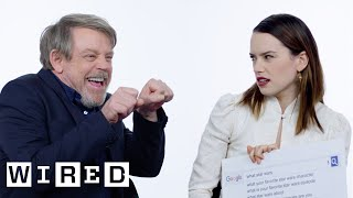 The Last Jedi Cast Answer the Web's Most Searched Questions | WIRED - dooclip.me
