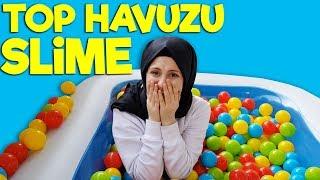 Top Havuzu Sürpriz Slime Challenge - En Güzel Slime  😜 | The Most Beautiful Slime