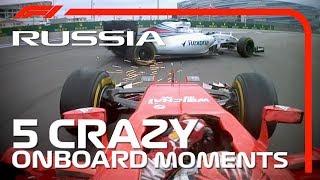 5 Crazy Onboard Moments | Russian Grand Prix