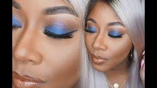 Cancel  Save changes Basic AF Blue Eyeshadow + Nude Lip Makeup Look