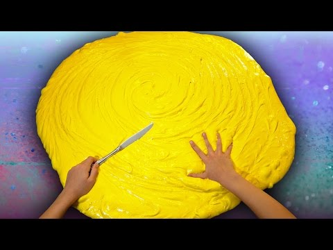 Butter Slime GIANT SIZE How To! $100 DIY Slime Challenge Recipe