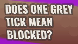 Does one GREY tick mean blocked?