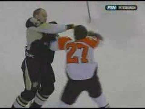 Steve Downie vs Jarkko Ruutu