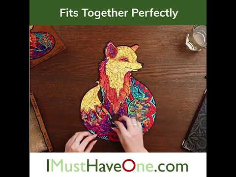 Bear Jigsaw Puzzle - Wooden Box Package - Unique Wooden Puzzle - For Adult And Kids