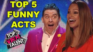 TOP 5 FUNNY AUDITIONS from Got Talent TRY NOT TO LAUGH CHALLENGE