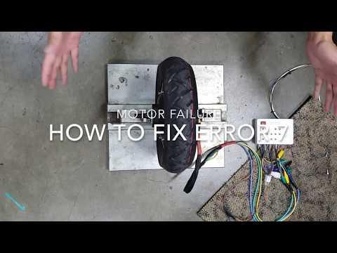 How to Fix ERROR 7: Motor Failure on ZERO Scooter